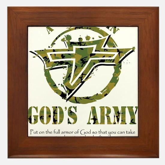 A Soldier in God's Army Framed Tile
