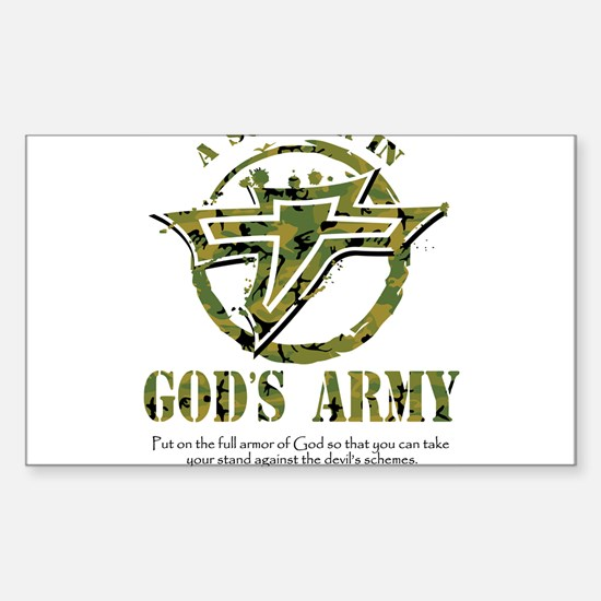 A Soldier in God's Army Sticker (Rectangle)