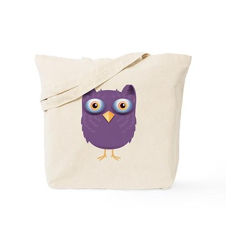 Cute Purple Owl Tote Bag