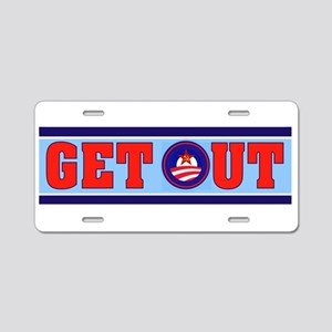 OBAMA GET OUT Aluminum License Plate