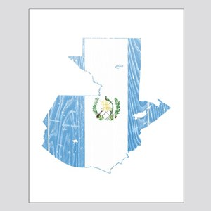 Guatemala Flag And Map Small Poster