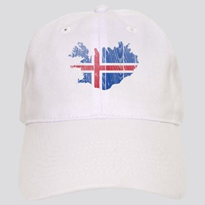Iceland Flag And Map Cap