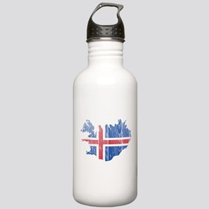 Iceland Flag And Map Stainless Water Bottle 1.0L