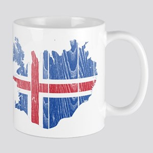 Iceland Flag And Map Mug