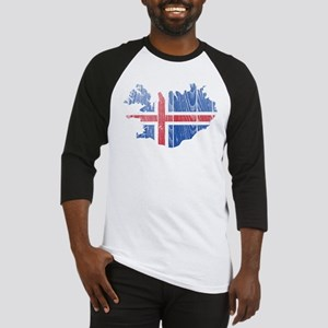 Iceland Flag And Map Baseball Jersey