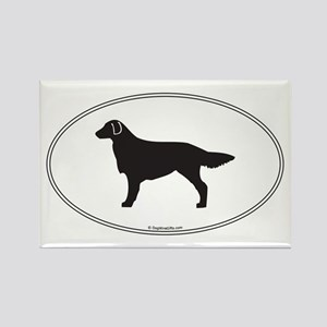 Flat-Coated Silhouette Rectangle Magnet