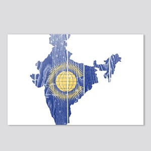 India Commonwealth Flag And Map Postcards (Package