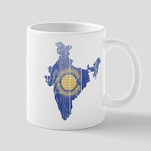 India Commonwealth Flag And Map Mug