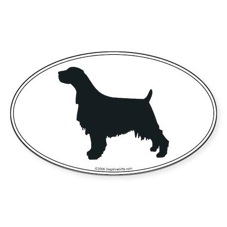 En Springer Silhouette Oval Sticker