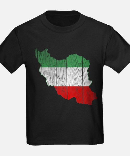 Iran Tri Color Flag And Map T