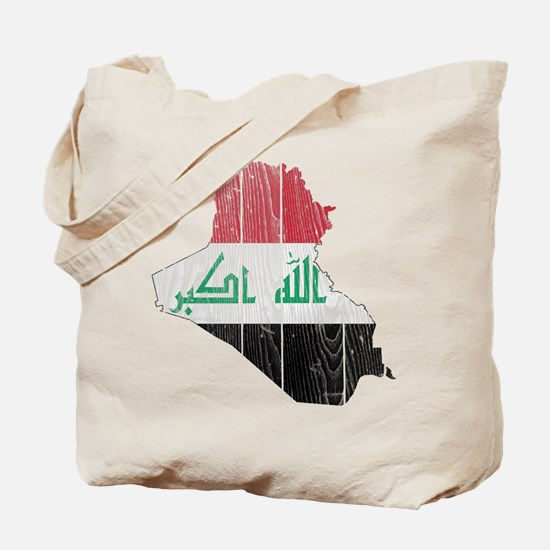 Iraq Flag And Map Tote Bag