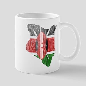 Kenya Flag and Map Wood Mug