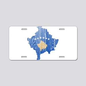 Kosovo Flag And Map Aluminum License Plate