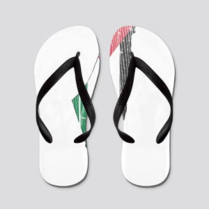 Palestine Flag And Map Flip Flops