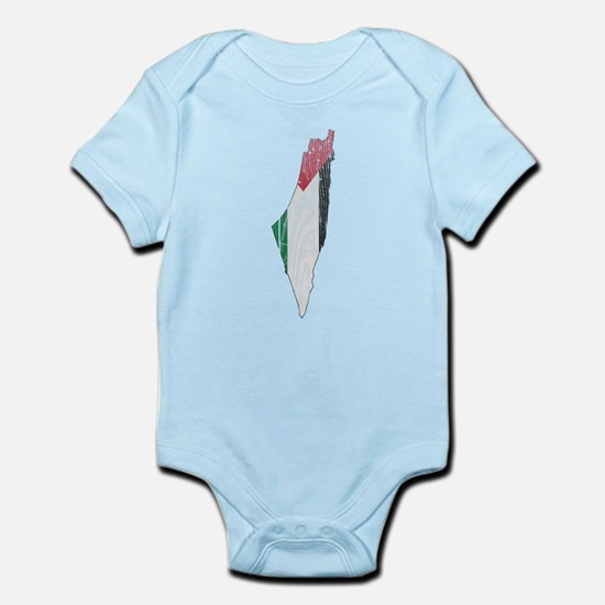 Palestine Flag And Map Infant Bodysuit
