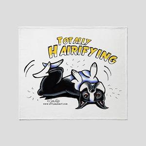 Boston Terrier Hairifying Throw Blanket
