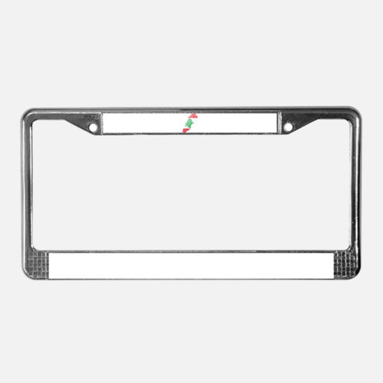 Lebanon Flag and Map Wood.png License Plate Frame