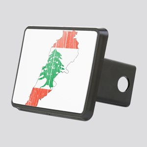 Lebanon Flag And Map Rectangular Hitch Cover