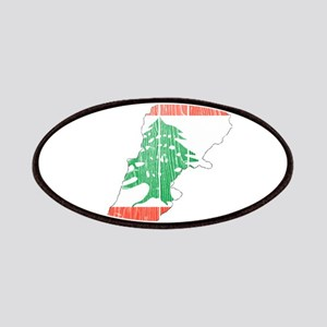 Lebanon Flag And Map Patches