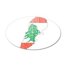 Lebanon Flag And Map Wall Decal