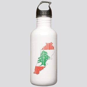 Lebanon Flag And Map Stainless Water Bottle 1.0L