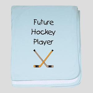 Future Hockey Player baby blanket