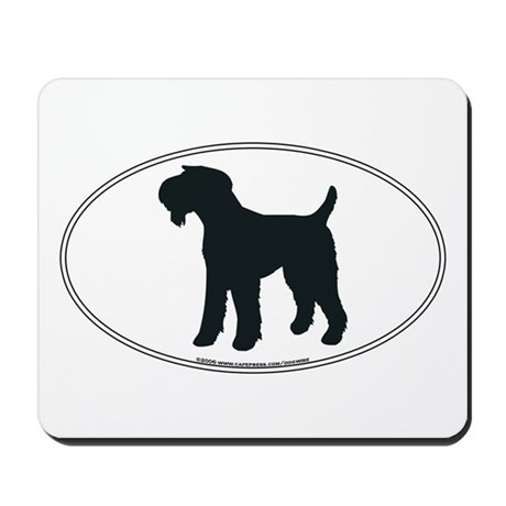 Airedale Terrier Silhouette Mousepad