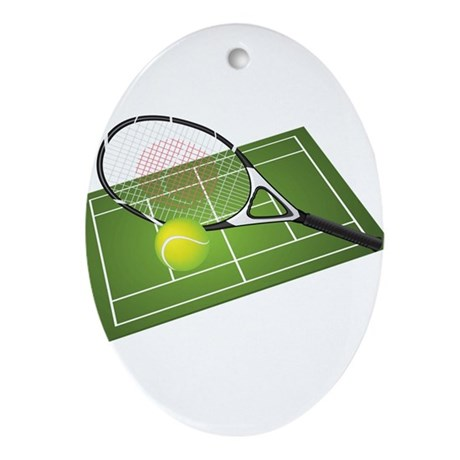 Tennis Ornament (Oval)