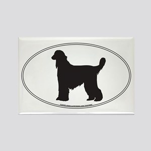 Afghan Hound Silhouette Rectangle Magnet