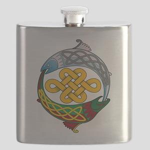 Celtic-Fish Flask