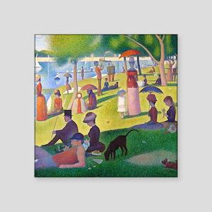 """Seurat La Grande Jatte Square Sticker 3"""" x 3"""""""