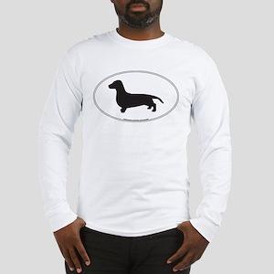 Dachshund Silhouette Long Sleeve T-Shirt
