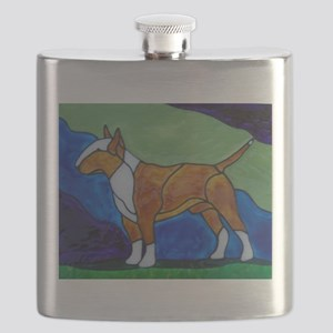 Stacked Red Bully Flask