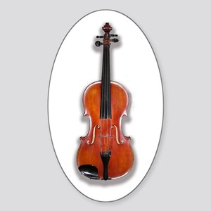 The Violin Oval Sticker