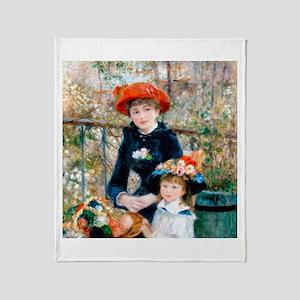 Renoir - Two Sisters Throw Blanket