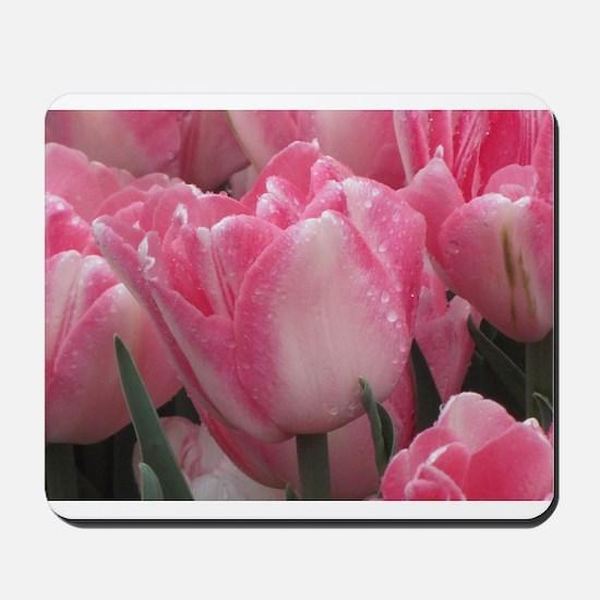 Pink Tulips Mousepad