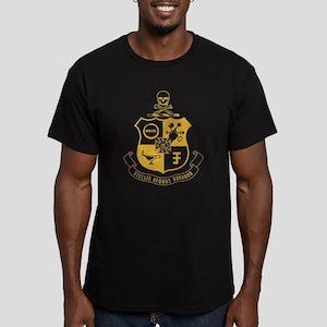 Phi Kappa Sigma Crest Men's Fitted T-Shirt (dark)