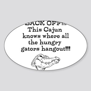 Hungry Gators Sticker (Oval)