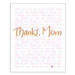Thanks, Mom Small Poster