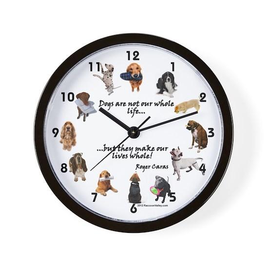 WALL CLOCK - Dogs