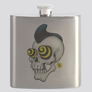 Psychobilly Skully Flask