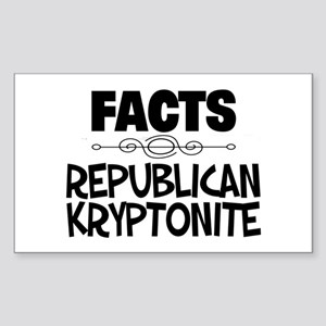 Republican Kryptonite Sticker (Rectangle)
