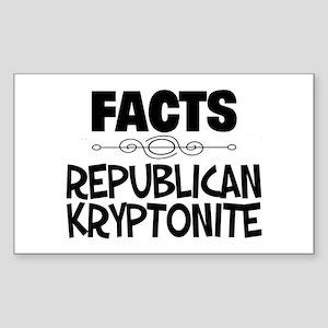 Republican Kryptonite Sticker (Rectangle)