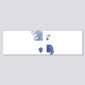 Martinique Flag and Map Wood Sticker (Bumper)