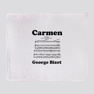 OPERA - CARMEN - GEORGE BIZET! Throw Blanket