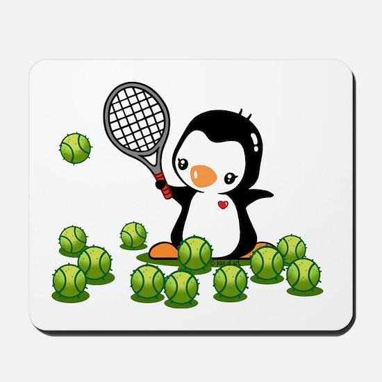 Tennis Penguin (4) Mousepad