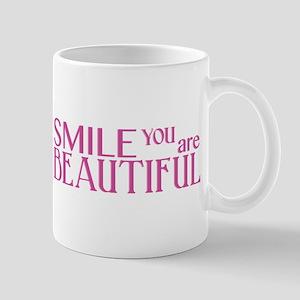 Smile you are Beautiful, Fuchsia Mug