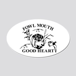 LAB GOOD HEART 20x12 Oval Wall Decal