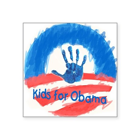 "Kids for Obama Square Sticker 3"" x 3"""