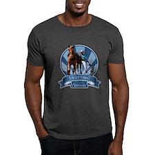 Blue Ribbon Trotting Dark T-Shirt